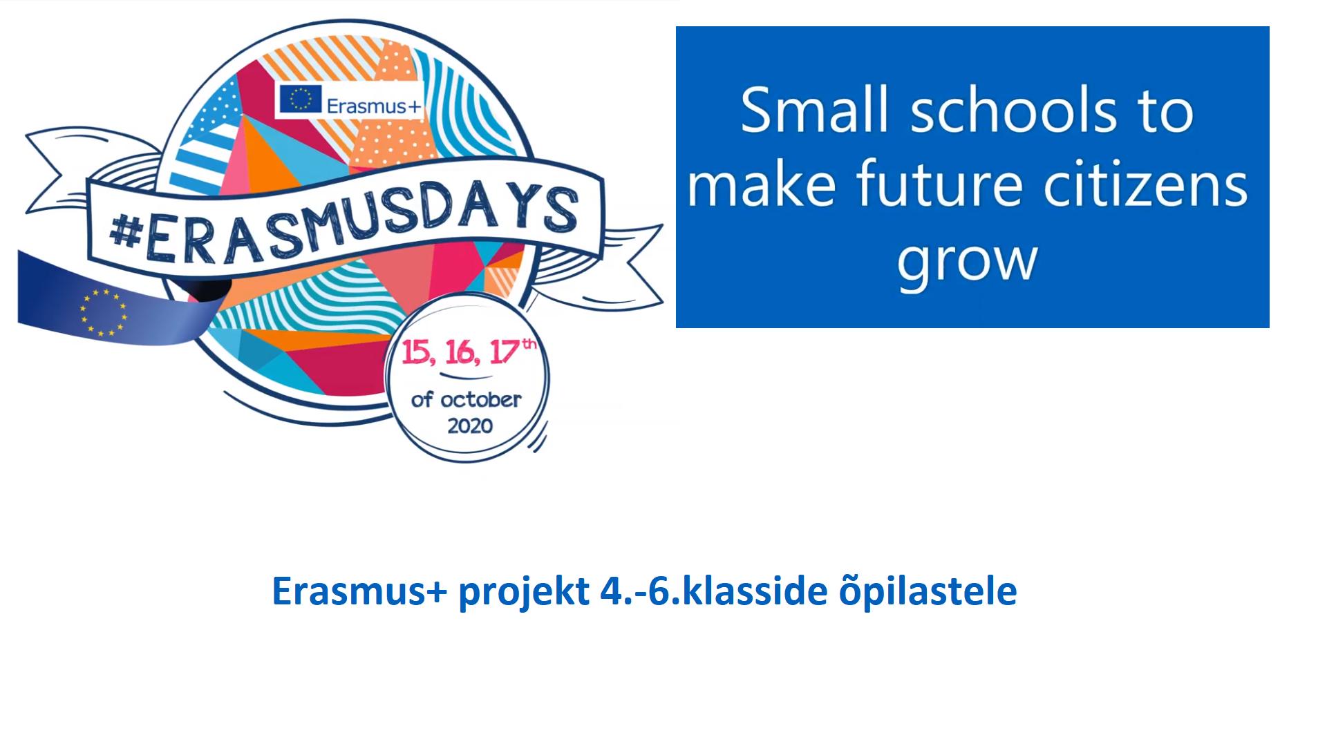 Erasmus+ projekt koolis on alanud