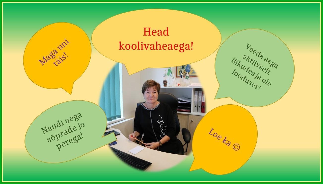 Plakat direktori soovidega koolivaheajaks