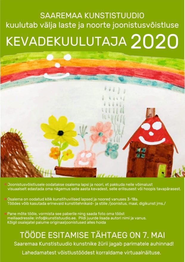 Laste ja noorte joonistusvõistlus kevadekuulutaja 2020