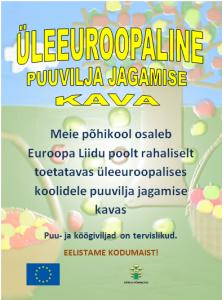 Kärla Põhikool osaleb Euroopa Liidu puuvilja programmis